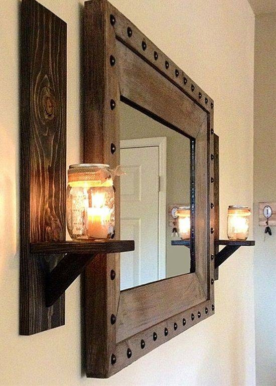 Best 25+ Rustic Wall Mirrors Ideas On Pinterest | Country Full With Regard To Rustic Wall Mirrors (View 5 of 15)