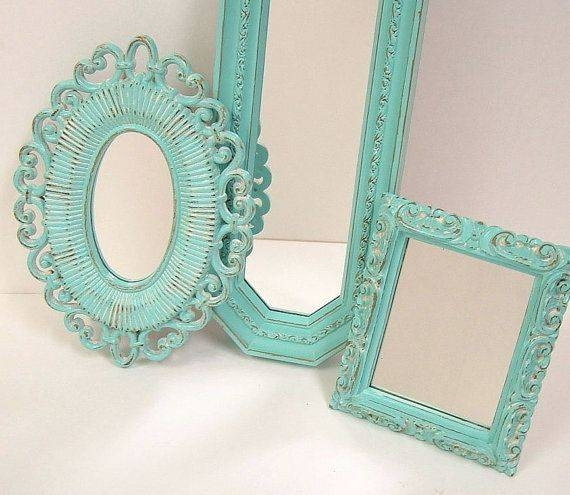 Best 25+ Teal Framed Mirrors Ideas On Pinterest | Glass Wall For Turquoise Wall Mirrors (#3 of 15)