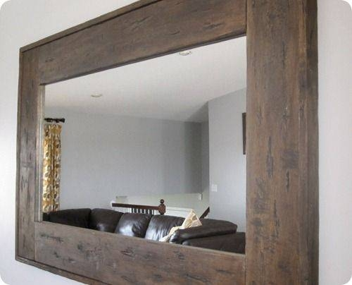 Best 25+ Wood Mirror Ideas On Pinterest | Wood Framed Mirror Intended For Large Wood Wall Mirrors (#6 of 15)