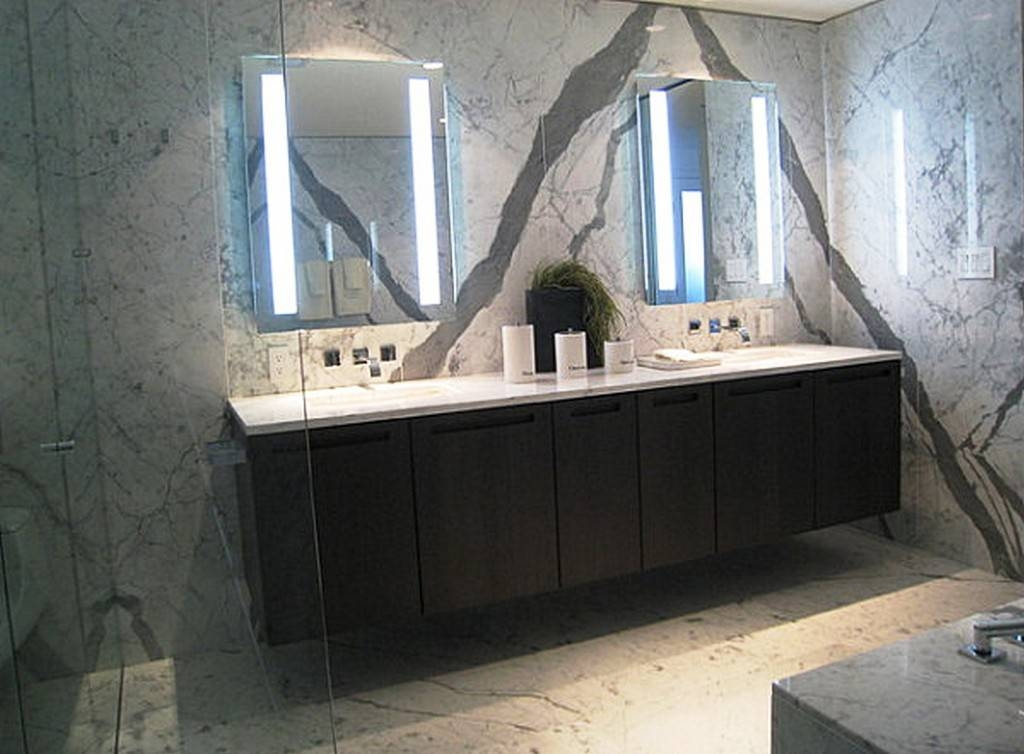 Best Choices Lighted Bathroom Wall Mirror | Inspiration Home Designs Regarding Backlit Bathroom Wall Mirrors (#10 of 15)
