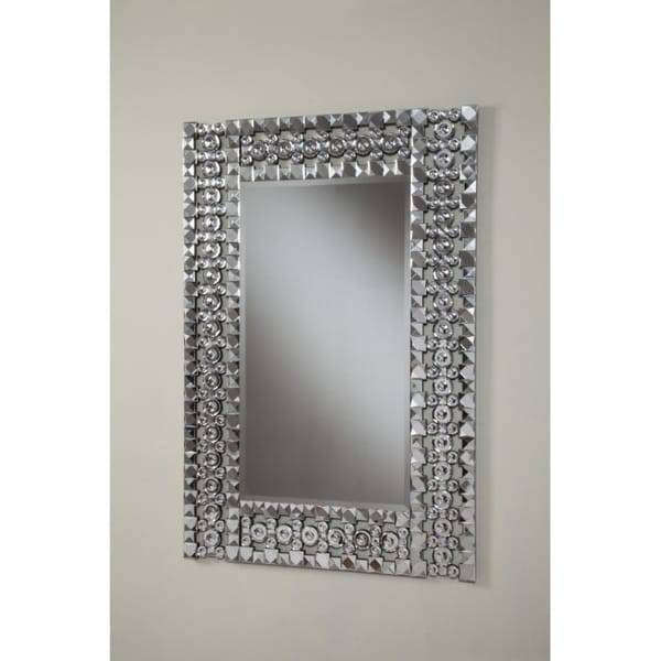 Best Quality Furniture Rectangular Crystal Wall Mirror – Free With Crystal Wall Mirrors (#2 of 15)