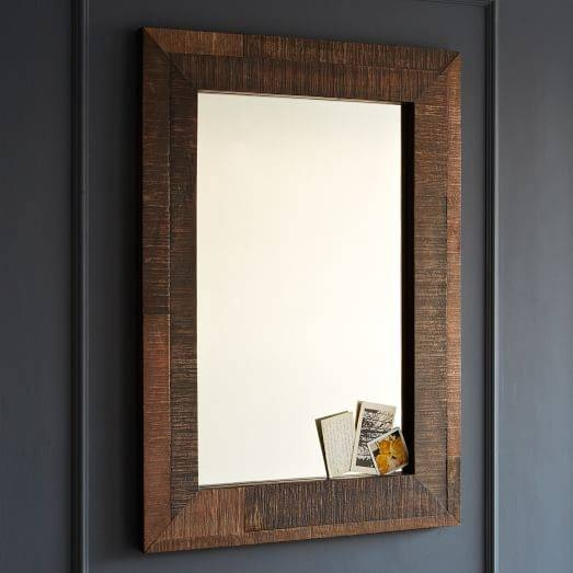 Best Reclaimed Wood Mirror Photos 2017 – Blue Maize In Distressed Wood Wall Mirrors (View 6 of 15)
