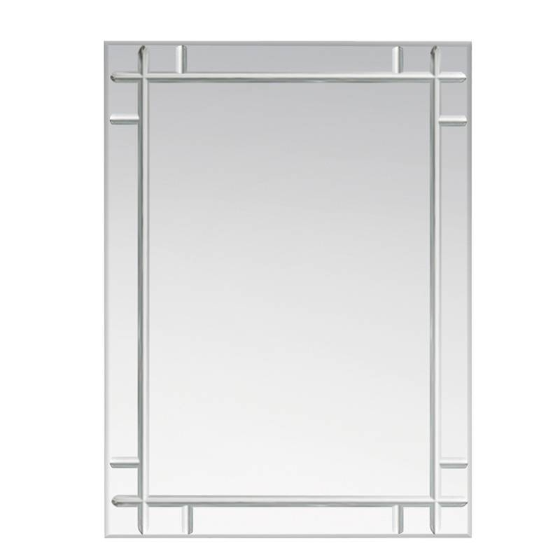 Bevelled Mirror Brick Tiles – Bevelled Mirror As Indoor Decorative For Frameless Full Length Wall Mirrors (#3 of 15)