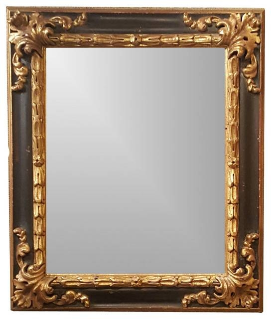 Black And Gold Spanish Style Ornate Framed Beveled Mirror Intended For Black Wall Mirrors (View 12 of 15)