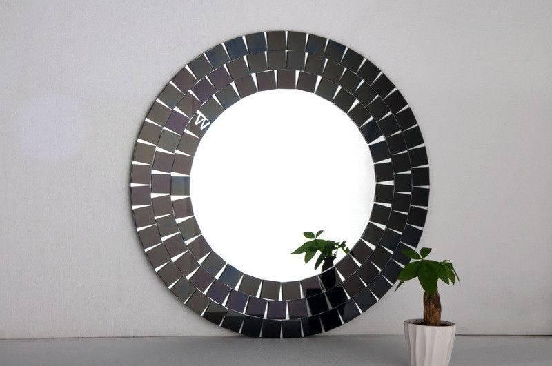 Black Frame Wall Mirror, Artistic Wall Mirror Designs Decorative Inside Black Frame Wall Mirrors (#8 of 15)
