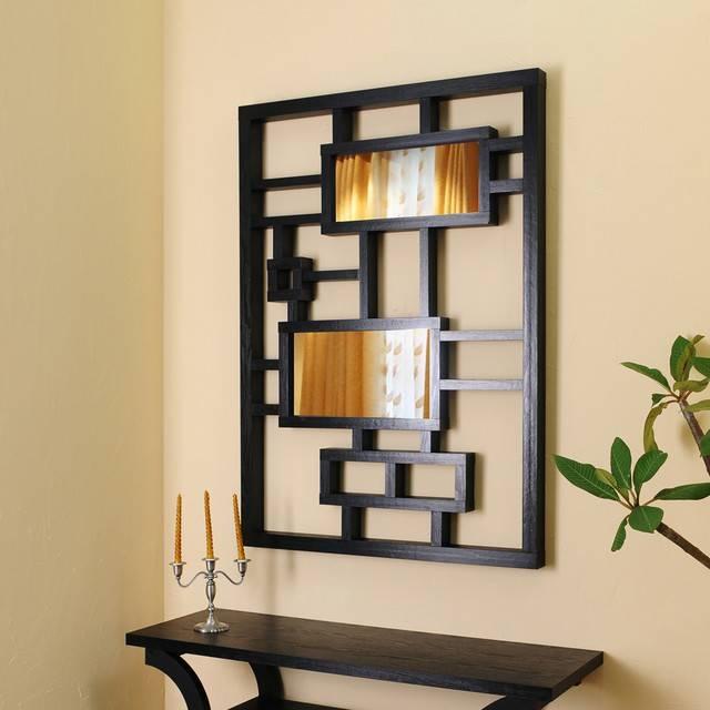Black Frame Wall Mirror, Black Modern Wall Mirrors With Frame Within Black Frame Wall Mirrors (#9 of 15)
