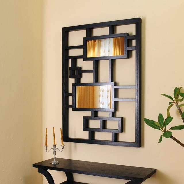 Black Frame Wall Mirror, Black Modern Wall Mirrors With Frame Within Trendy Wall Mirrors (#6 of 15)