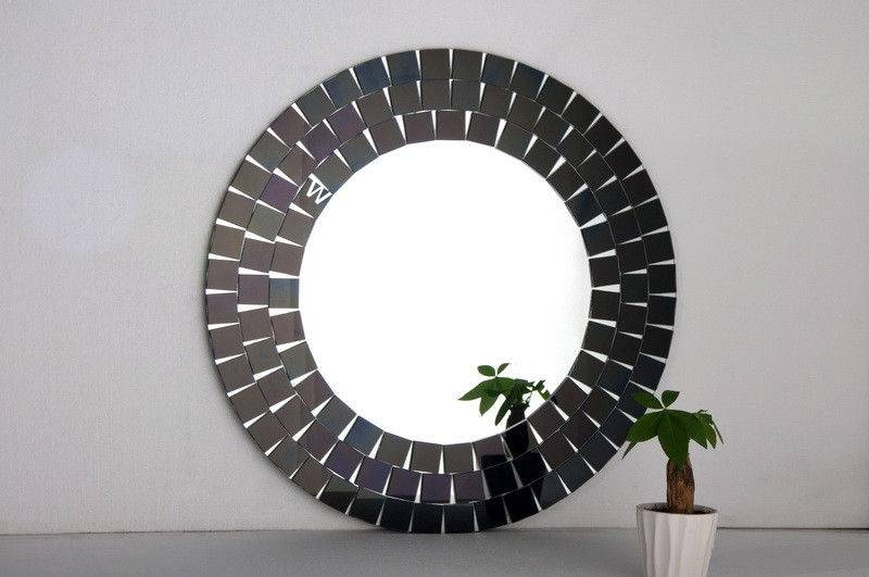 Black Frame Wall Mirror, Black Round Wall Mirror Black Large Wall Within Decorative Black Wall Mirrors (#2 of 15)