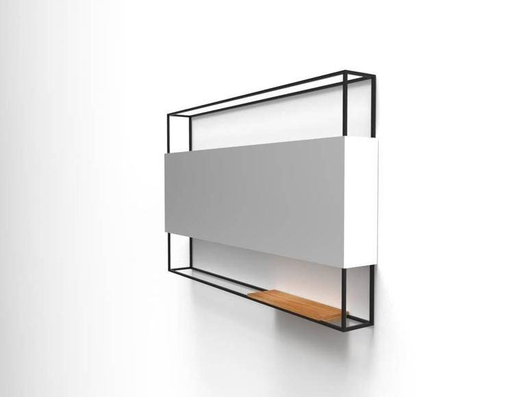 Black Horizontal Frame Minimal Contemporary Mirror With Movable Within Movable Mirrors (View 11 of 15)