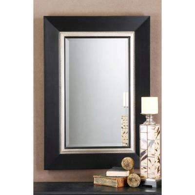 Black – Mirrors – Wall Decor – The Home Depot Pertaining To Black Rectangle Wall Mirrors (#6 of 15)