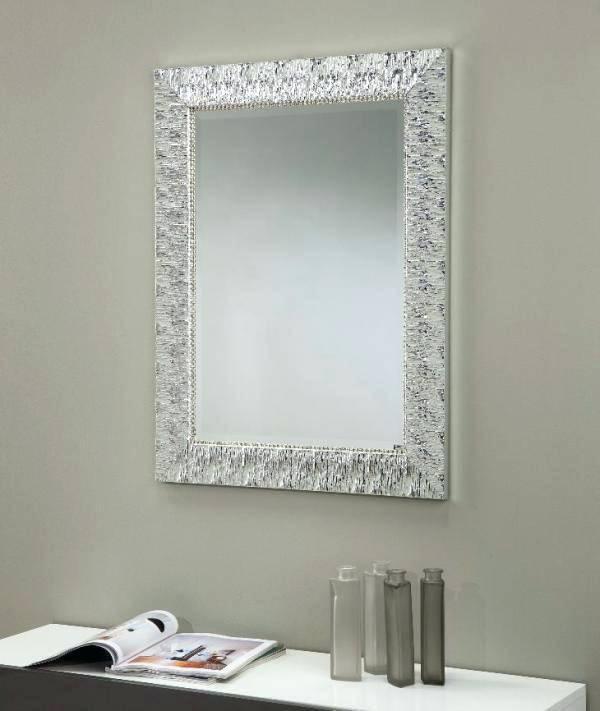 Black Rhinestone Wall Mirror Alba Italian Ornate Silver Finish Within Rhinestone Wall Mirrors (View 8 of 15)