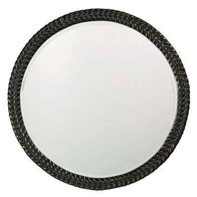 Black – Round – Mirrors – Wall Decor – The Home Depot With Black Round Wall Mirrors (#3 of 15)