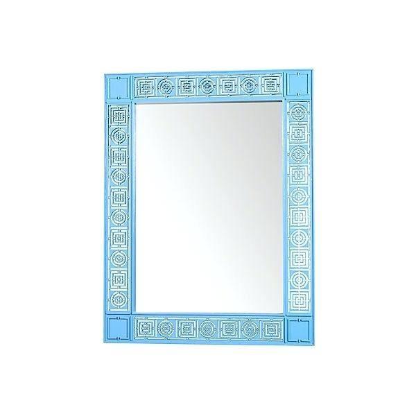 Blue Framed Wall Mirror – Designlee Intended For Blue Framed Wall Mirrors (#3 of 15)
