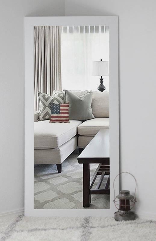Brayden Studio Classic White Vanity Wall Mirror & Reviews | Wayfair In Floor To Wall Mirrors (#11 of 15)