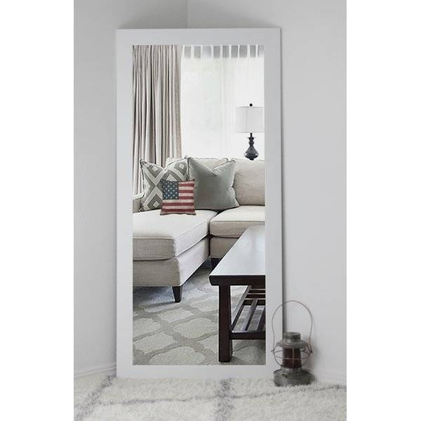 Brayden Studio Classic White Vanity Wall Mirror & Reviews | Wayfair Throughout Full Length Wall Mirrors (#6 of 15)