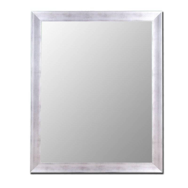Brayden Studio Conduit Avenue Vintage Silver Framed Wall Mirror Within Silver Framed Wall Mirrors (View 3 of 15)