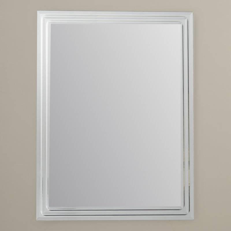 Brayden Studio Frameless Tri Bevel Wall Mirror & Reviews   Wayfair Intended For Frameless Beveled Wall Mirrors (#7 of 15)