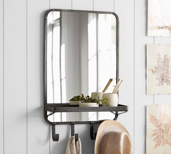 Bronze Wall Mounted Vertical Mirror With Regard To Hanging Wall Mirrors (View 13 of 15)