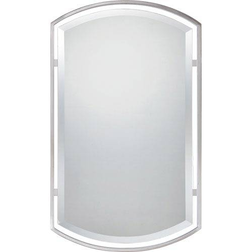 Brushed Nickel Mirror Quoizel Wall Mirror Mirrors Home Decor In Brushed Nickel Wall Mirrors (#9 of 15)