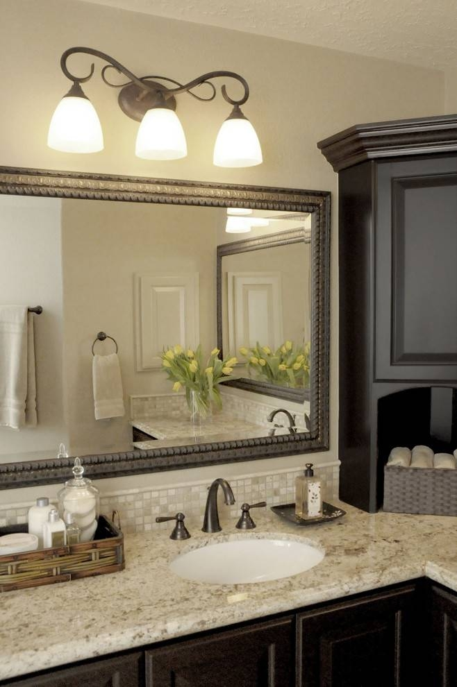 Brushed Nickel Wall Mirror Bathroom Traditional With Bath For Brushed Nickel Wall Mirror For Bathroom (#9 of 15)