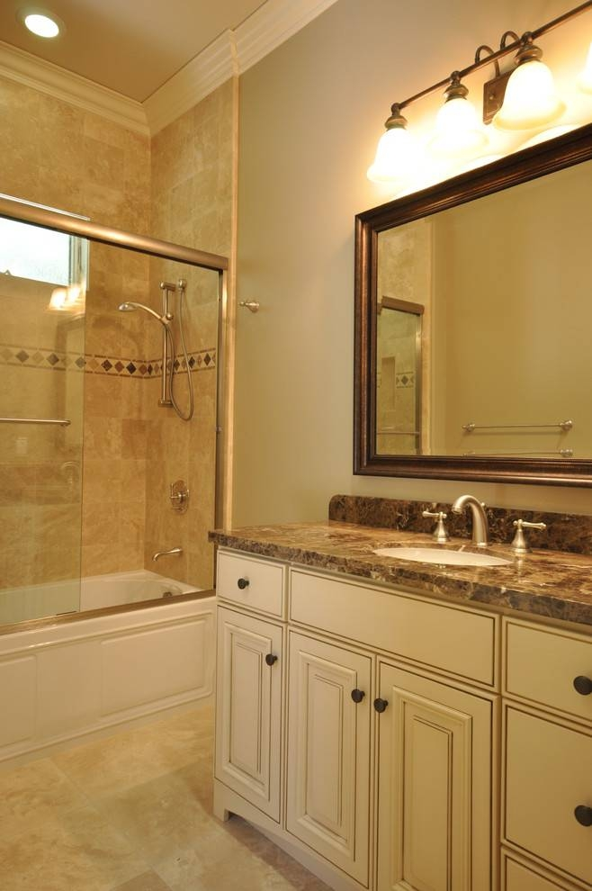 Brushed Nickel Wall Mirror Bathroom Traditional With Bathroom With Brushed Nickel Wall Mirror For Bathroom (#11 of 15)