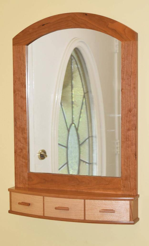 Build An Arched Top Wall Mirror With Curved Drawers Inside Wall Mirrors With Drawers (#4 of 15)
