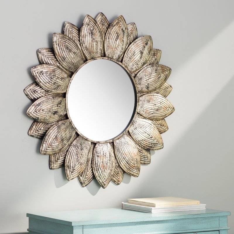 Bungalow Rose Seema Round Wall Mirror & Reviews | Wayfair Pertaining To Round Wall Mirrors (#2 of 15)