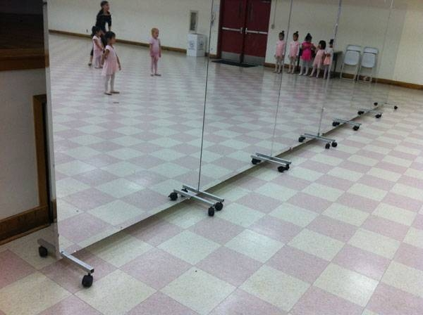Buy Glassless Dance Mirrors On Wheels, Portable And Rollable For Pertaining To Dance Wall Mirrors (#3 of 15)