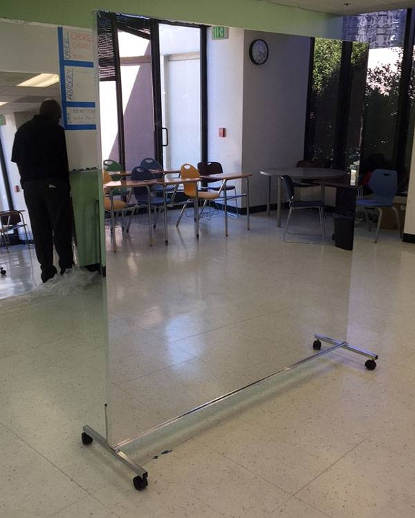 Buy Glassless Dance Mirrors On Wheels, Portable And Rollable For Within Movable Mirrors (View 6 of 15)