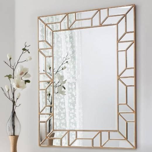 Buy Large Geometric Mirror | Gold Verbier Statement Wall Mirrors Regarding Geometric Wall Mirrors (#1 of 15)