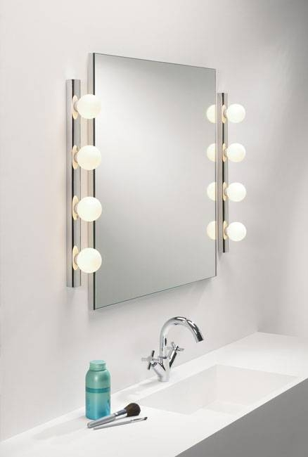 Caberet 5 Light Ip44 Bathroom Wall Light Mirror Light In Polished Intended For Light Wall Mirrors (#6 of 15)