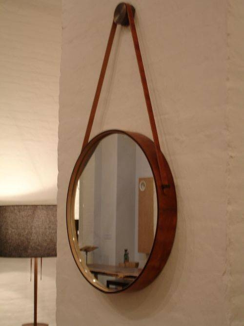 Captain's Mirrorbddw At The Gardener   Leather Belts, 30Th And Throughout Leather Framed Wall Mirrors (#6 of 15)
