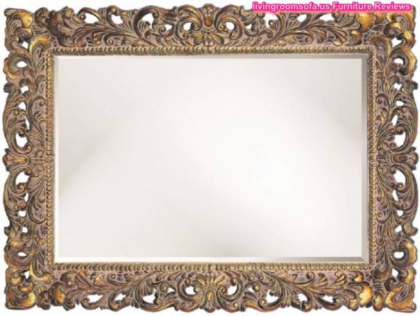 Carved Antique Wall Mirror Decorative With Regard To Antique Gold Wall Mirrors (#8 of 15)