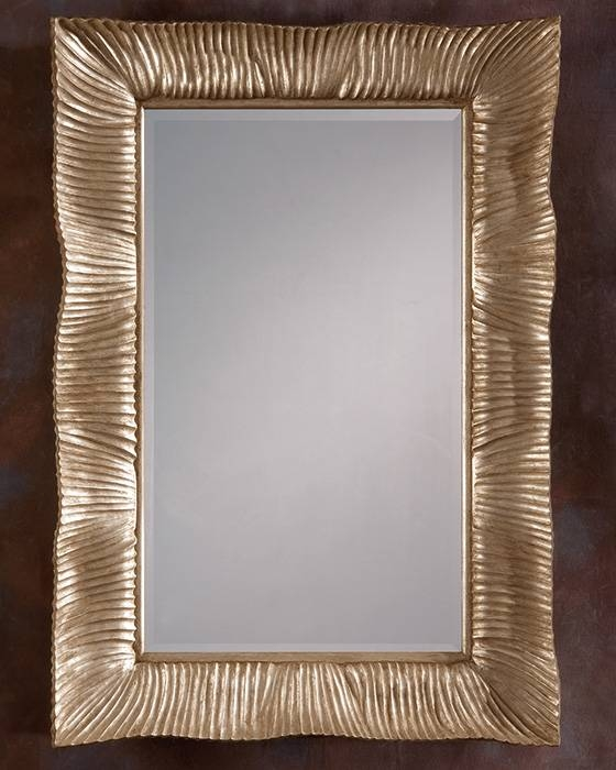 Carved Wood Framed Wall Mirror Intended For Wooden Framed Wall Mirrors (#4 of 15)