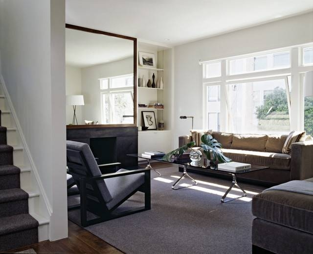 Cary Bernstein Architect Choy 2 Residence Inside Large Wall Mirrors For Living Room (View 6 of 15)