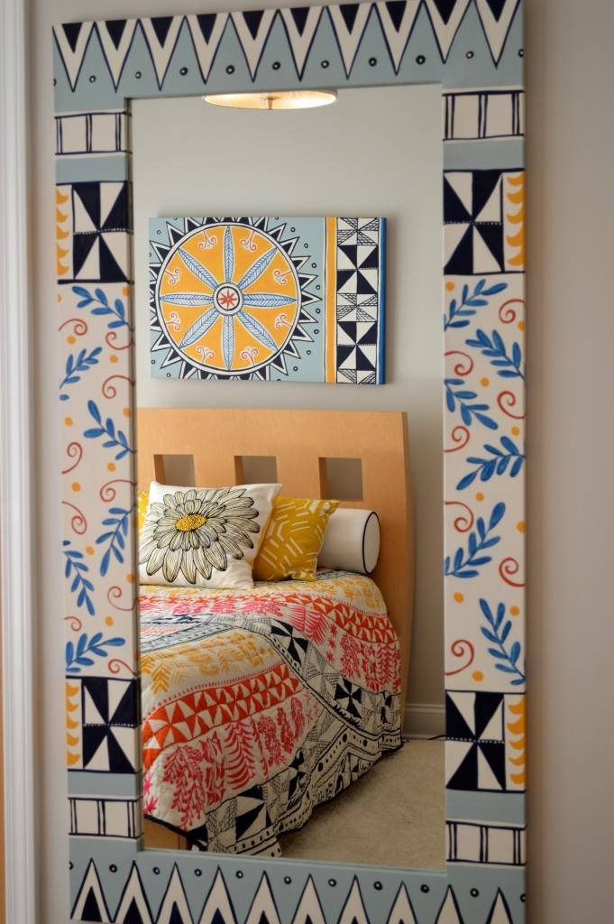Charming Ethnic Bohemian Decorative Wall Mirror For A Boho Chic Inside Ethnic Wall Mirrors (#5 of 15)