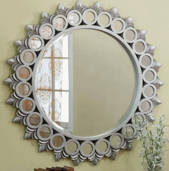 Charming Ideas Large Round Wall Mirror Pretty Amazoncom Extra Pertaining To Large Round Wall Mirrors (#2 of 15)