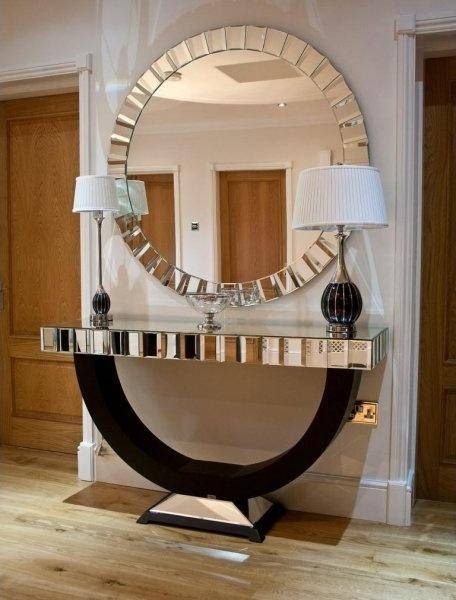 Charming Ideas Large Round Wall Mirror Pretty Amazoncom Extra Regarding Large Circular Wall Mirrors (#5 of 15)