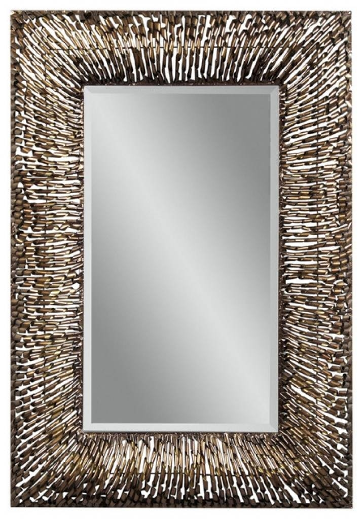 Checkered Zigzag Outer Edge Framed Rectangular Design Frameless Pertaining To Decorative Framed Wall Mirrors (#5 of 15)
