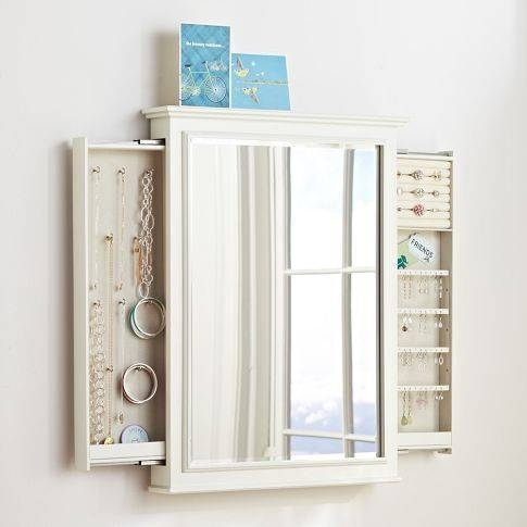 Chelsea Hidden Wall Jewelry Storage | Pbteen | Organization Throughout Wall Mirrors With Jewelry Storage (#11 of 15)