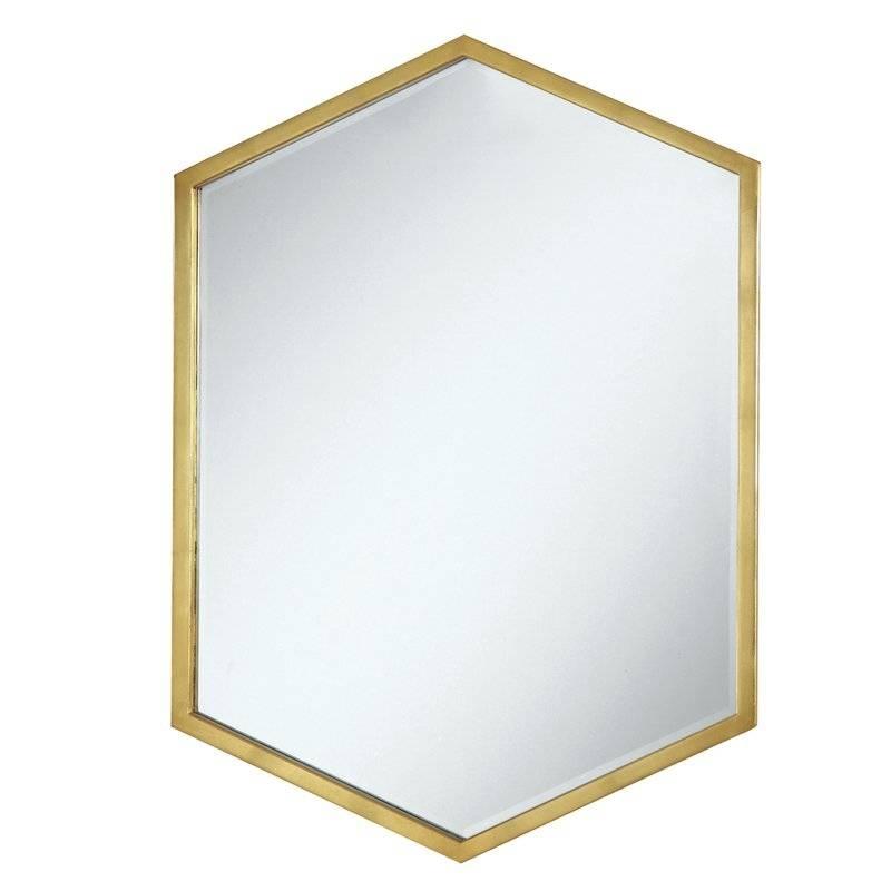 Cherine Hexagon Wall Mirror & Reviews | Allmodern For Hexagon Wall Mirrors (View 15 of 15)