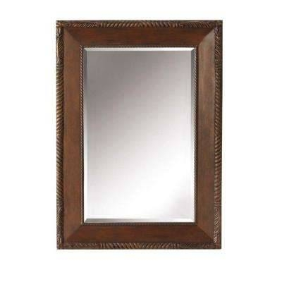 15 best of cherry wall mirrors for Cherry wood framed bathroom mirrors