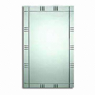 China Frameless Beveled Wall Mirror With V Grooved Finish With Regard To Frameless Beveled Wall Mirrors (#8 of 15)