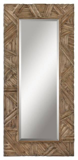 Classic Design Large Wall Mirror Wood Frame Walnut Details Home Throughout Large Wall Mirrors With Wood Frame (View 2 of 15)