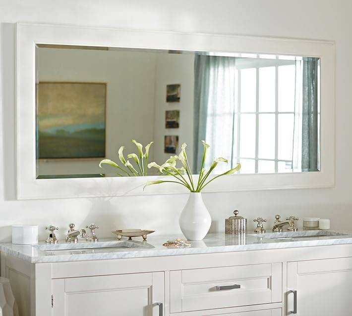 Classic Double Wide Mirror | Pottery Barn Inside Extra Wide Bathroom Mirrors (#3 of 15)