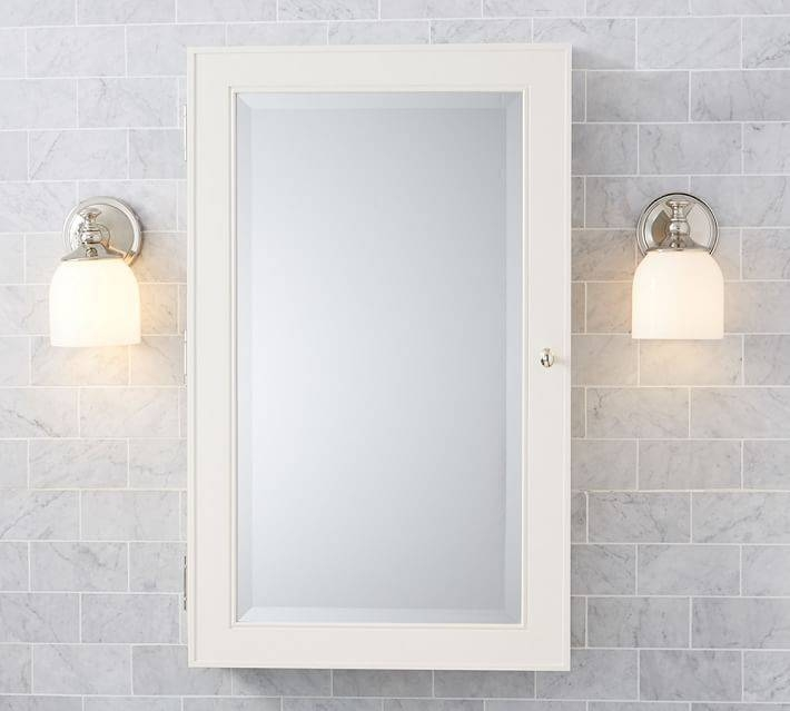 Classic Wall Mounted Medicine Cabinet | Pottery Barn Regarding Bathroom Medicine Cabinets With Mirrors (#7 of 15)