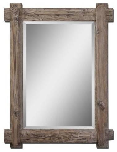 Claudio Wood Mirror – Rustic – Wall Mirrors Hedgeapple Regarding Rustic Wall Mirrors (View 6 of 15)