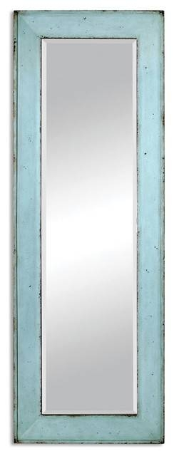 Coastal Cottage Blue Full Length Mirror – Beach Style – Wall With Coastal Wall Mirrors (#7 of 15)