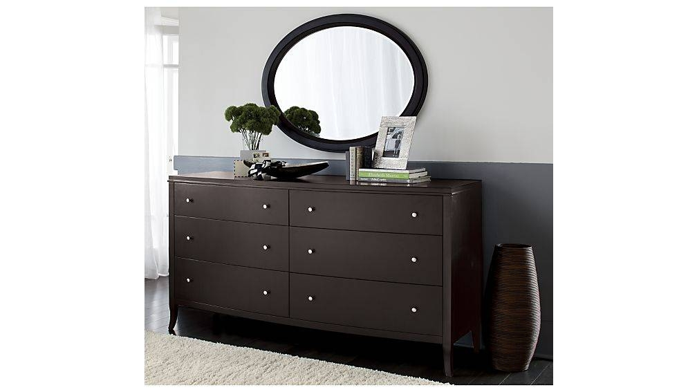Colette 6 Drawer Dresser | Crate And Barrel With Wall Mirrors With Drawers (#5 of 15)