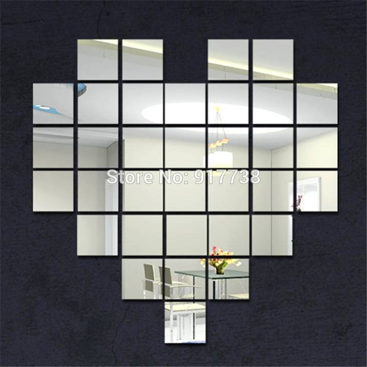 15 Collection of Stick on Wall Mirrors